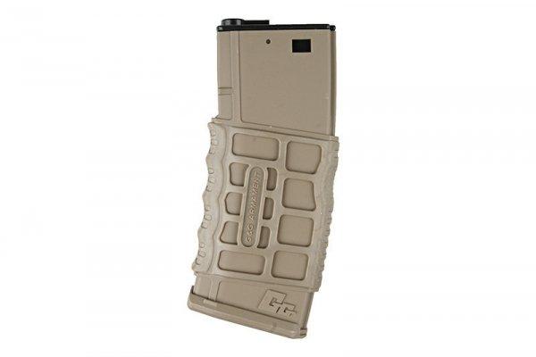 G&G - Magazynek GMAG-V1 na 300 kulek do M4 - TAN