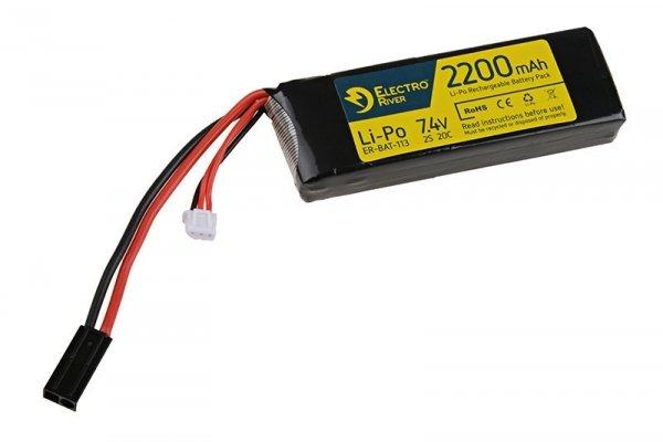 ElectroRiver - Akumulator LiPo 7,4V 2200mAh 20C