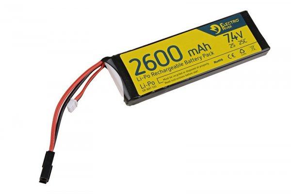 ElectroRiver - Akumulator LiPo 7,4V 2600mAh 25C