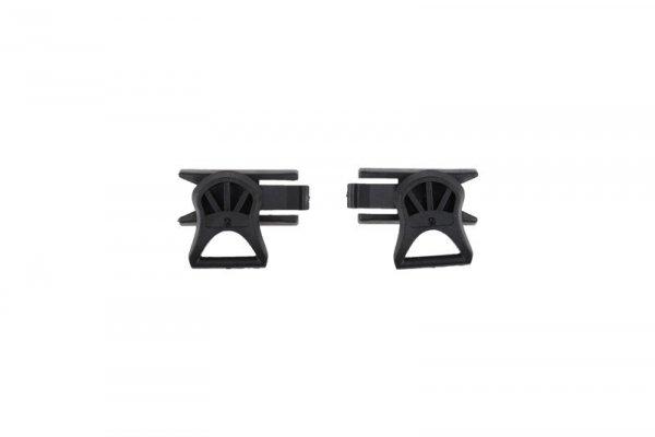 Klipsy do montażu gogli (19mm) - czarne