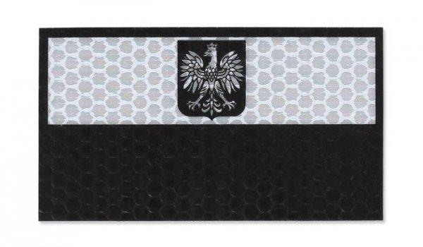 Combat-ID - Naszywka Polska - Duża - Biały - Bez napisu - Gen I - A2