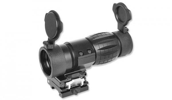 Aim-O - ET Style 4X FXD Magnifier - Adjustable QD Mount - AO 5338-BK
