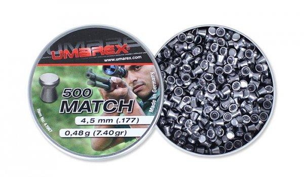 Umarex - Śrut Match - 500 szt. - 4,5 mm - 4.1967