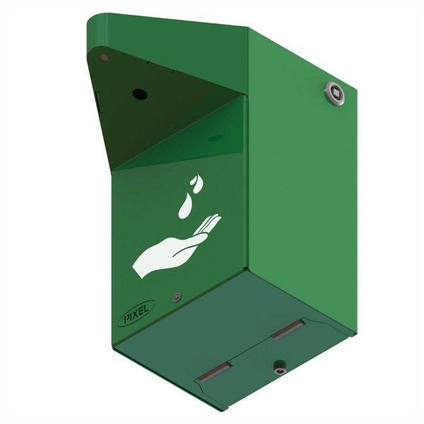 Dezynfektor stacjonarny, montowany do ściany I, zielony