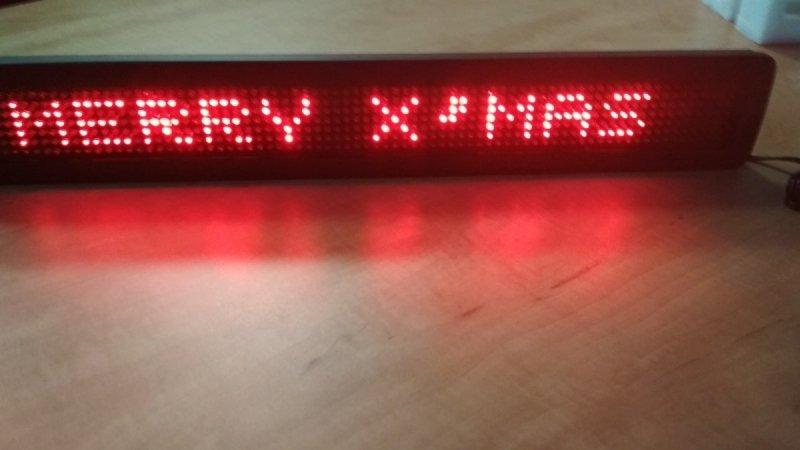 Wyświetlacz diodowy 7x80, czerwony + pilot - Produkt kolekcjonerski