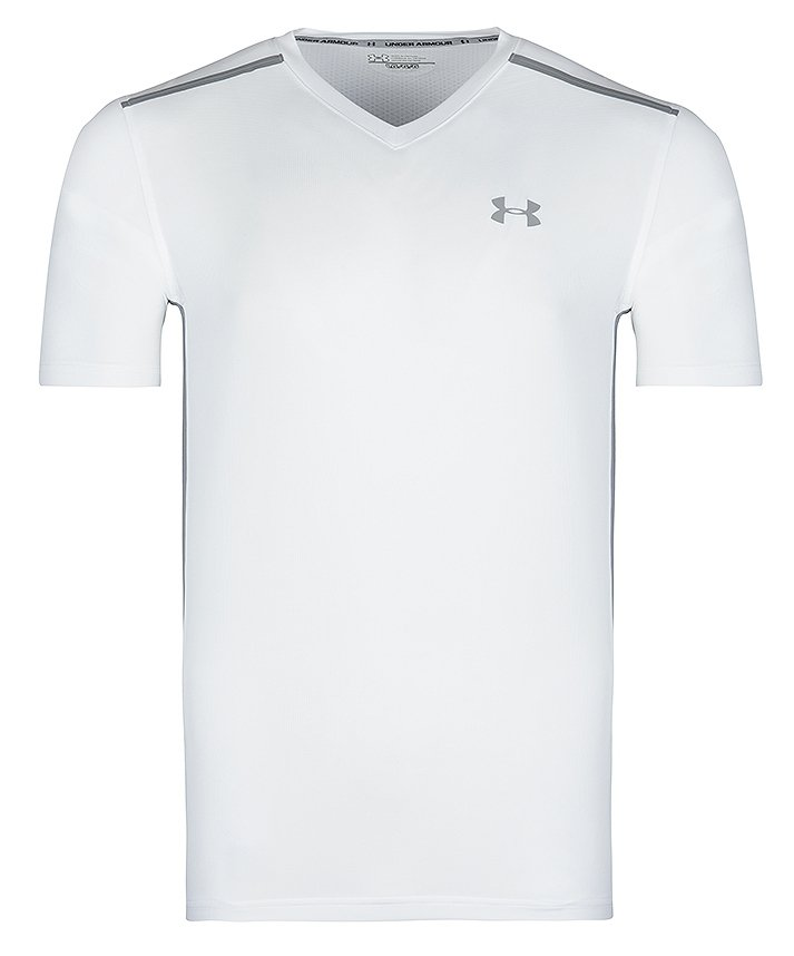 UNDER ARMOUR T-SHIRT HEATGEAR BIAŁY 1289717-100