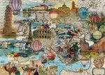 Puzzle 1000 Schmidt 58205 Lot Balonem przez Europę