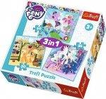 Puzzle 3w1 Trefl T-34843 My Little Pony - Radosne Dni Kucyków