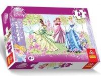Puzzle 60 Trefl 17191 Księżniczki - Spacer po Ogrodzie