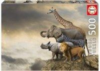Puzzle 500 Educa 16737 Animals on the Edge