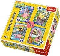 Puzzle 4w1 Trefl T-34264 SpongeBob i Patryk
