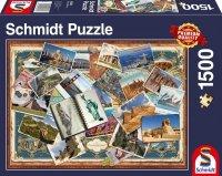 Puzzle 1500 Schmidt 58343 Pozdrowienia z Całego Świata