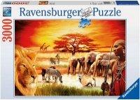 Puzzle 3000 Ravensburger 170562 Masajowie - Sawanna