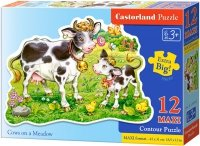 Puzzle 12 Maxi Castorland B-120062 Krowa - Cows on a Meadow