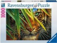 Puzzle 1000 Ravensburger 194865 Tajemniczy Tygrys