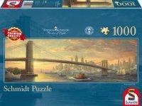 Puzzle 1000 Schmidt  59476 Thomas Kinkade - Most - Brooklyn Bridge - Panorama