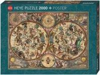 Puzzle 2000 Heye 29758 Niebiańska Mapa