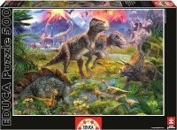 Puzzle 500 Educa 15969 Spotkanie Dinosaurów