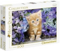 Puzzle 500 Clementoni 30415 Kotek w Kwiatach
