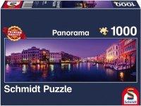 Puzzle 1000 Schmidt 58299 Wieczór przy Canale Grande - Panorama