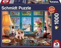 Puzzle 1000 Schmidt 58344 Stół do Układania Puzzli - Koty