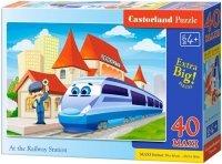 Puzzle 40 Maxi Castorland B-040216 Kolej Żelazna - Pociąg