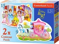 Puzzle 2w1 Castorland 15, 9 - Księżniczki na Balu 020034