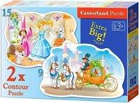 Puzzle 2w1 Castorland 15, 9 - Księżniczki 020027