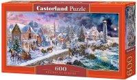 Puzzle 600 Castorland B-060184 Zimowy Krajobraz