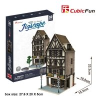 Puzzle 3D CubicFun 44 Restauracja Tudor HO4104h