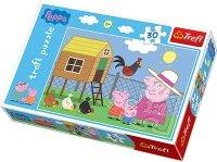Puzzle 30 Trefl 18195 Świnka Peppa - Wizyta w Kurniku