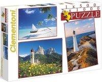 Puzzle 500 + 2x1000 Clementoni 08104 Krajobraz