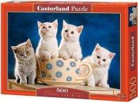 Puzzle 500 Castorland B-52042 Koty - Looking for Milk