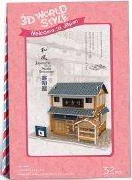 Puzzle 3D CubicFun 32 Domki Świata - Japonia - Sushi House W3104h