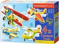 Puzzle 4,5,6,7 Castorland B-04447 Samoloty