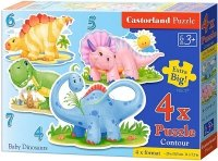 Puzzle 4,5,6,7 Castorland B-04386 Dinozaury