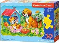 Puzzle 30 Castorland B-03549 Psy w Ogrodzie
