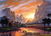 Puzzle 1000 Schmidt 59320 Jon Rattenbury - Dolina Skąpana w Zachodzie Słońca