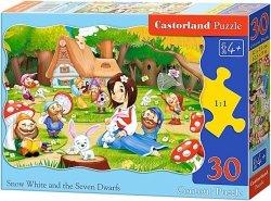 Puzzle 30 Castorland B-03495 Królewna Śnieżka - Krasnoludki