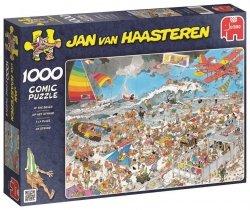 Puzzle 1000 Jumbo 01652 Jan van Haasteren - Rozgardiasz na Plaży