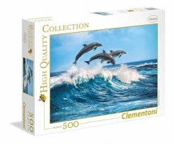 Puzzle 500 Clementoni 35055 Delfiny