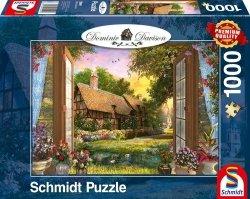 Puzzle 1000 Schmidt 59591 Dominic Davison -  Pokój z Widokiem na Wiejski Dom
