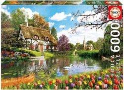 Puzzle 6000 Educa 16784 Domek nad Jeziorem Wiosną