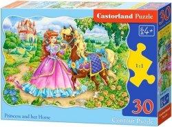 Puzzle 30 Castorland B-03617 Księżniczka i jej Koń