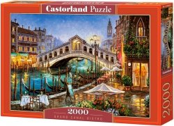 Puzzle 2000 Castorland C-200689 Grand Canal Bistro