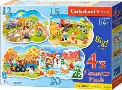 Puzzle 8,12,15,20 Castorland B-043019 Pory Roku