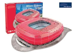 Puzzle 3D Trefl M-49001 Model Stadionu Allianz Arena - Bayern Munchen 119 el.