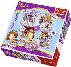 Puzzle 4w1 Trefl T-34247 Zosia - Wesoły Dzień