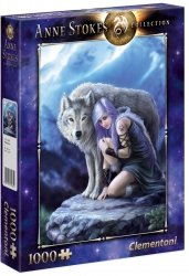 Puzzle 1000 Clementoni 39465 Anne Stokes Collection - Wilk - Opiekun