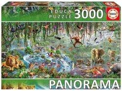 Puzzle 3000 Educa 17133 Dzika Przyroda - Panorama